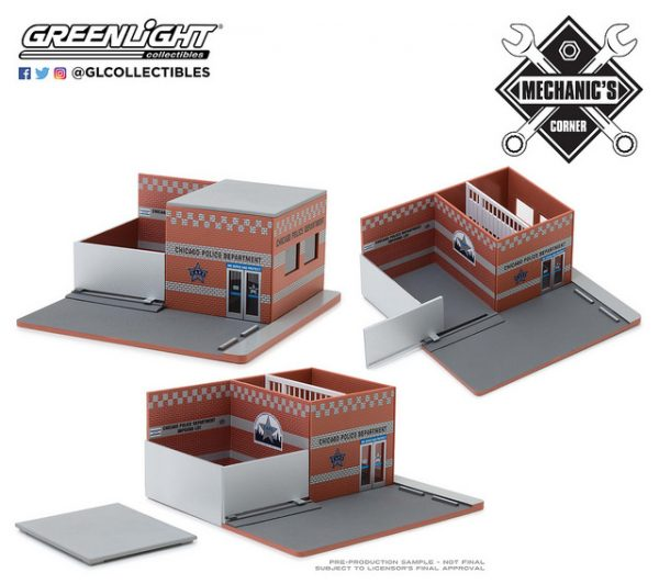 57041 - Hot Pursuit Central Command Diorama - City of Chicago Police Department