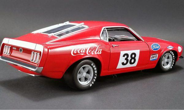 """a1801828a - 1969 Boss 302 """"Allan Moffat"""" Red #38 Trans Am racer"""