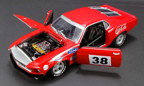 """a1801828b - 1969 Boss 302 """"Allan Moffat"""" Red #38 Trans Am racer"""