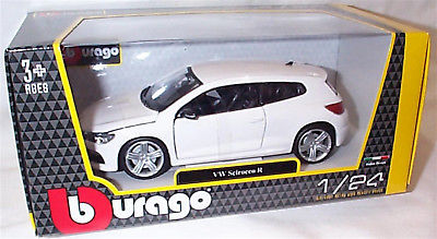 18 21060w - VW Scirocco R - white in 1:24 scale by Burago