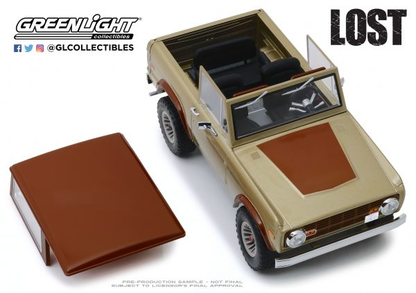 19057e - 1970 Ford Bronco- 1:18 Artisan Collection - Lost (TV Series, 2004-10)