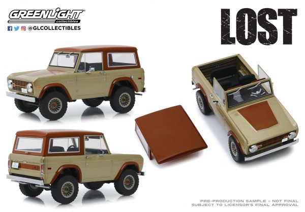 19057f - 1970 Ford Bronco- 1:18 Artisan Collection - Lost (TV Series, 2004-10)