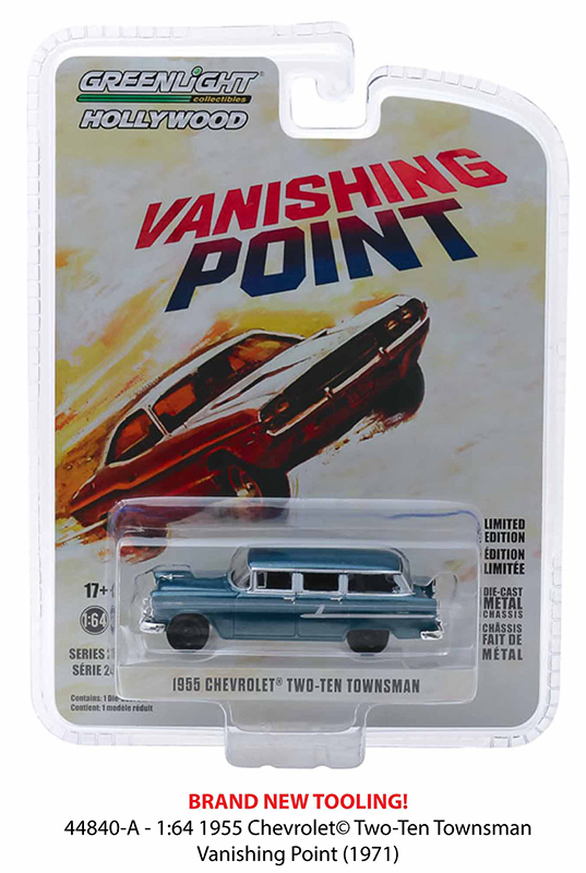 """44840a - 1955 Chevrolet Two-Ten Townsman """"Just Married""""-Vanishing Point (1971) - 1:64"""
