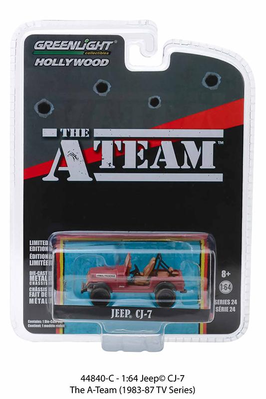 44840c 1 - Jeep CJ-7- The A-Team (1983-87 TV Series) - 1:64