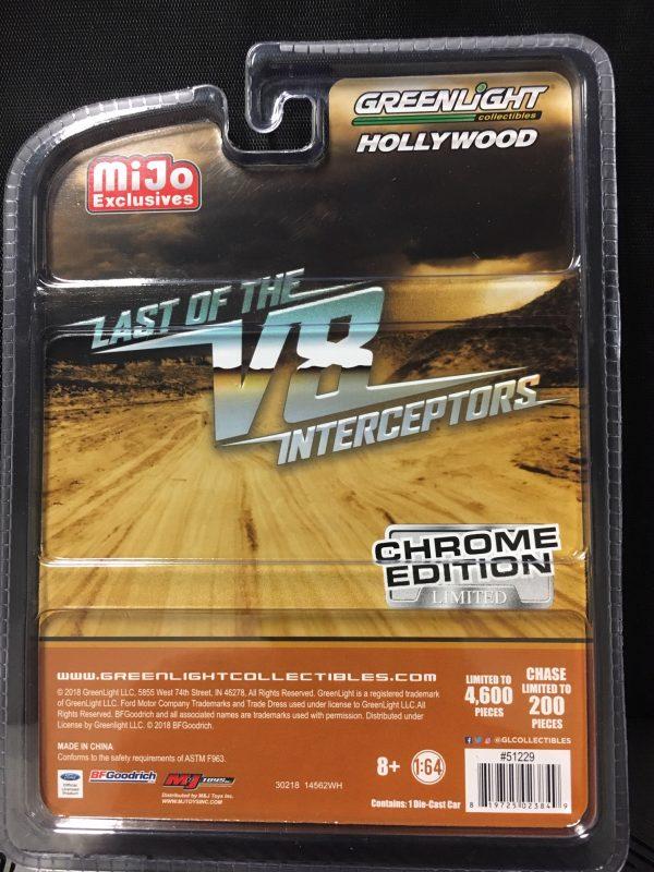 51229 3 - 1973 Ford Falcon XB- Last of the V8 Interceptors- Chrome Edition Black 1:64