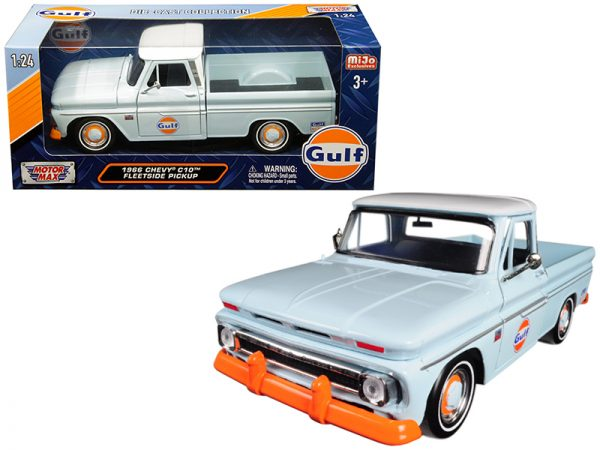 79648 - 1966 Chevy C-10 Pickup Truck- 1:24 Light Blue