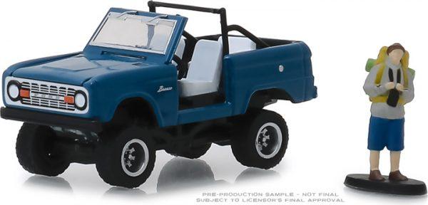 97060b - 1967 Ford Bronco (Doors Removed) with Backpacker - The Hobby Shop Series 6 - 1:64