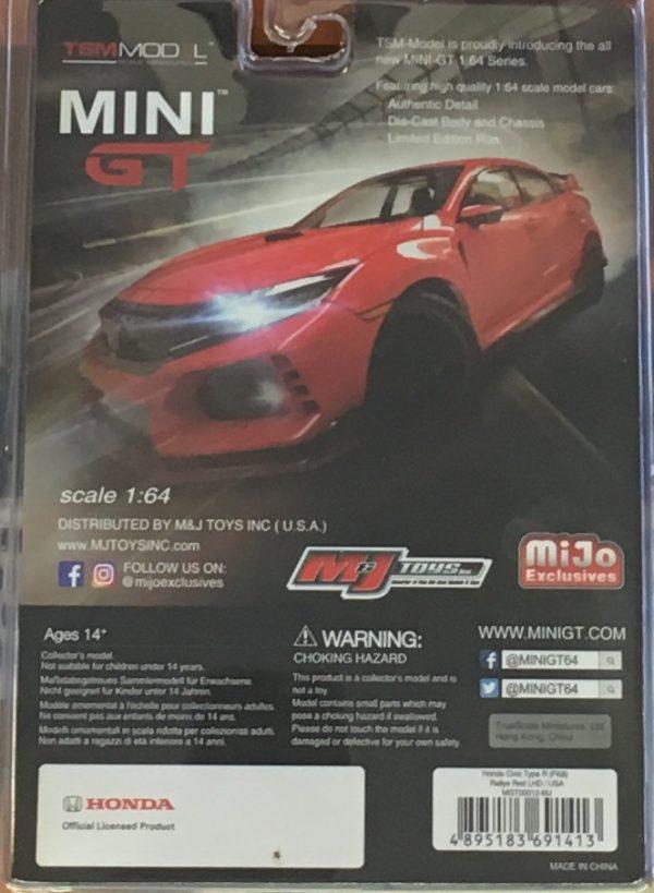 mgt00012c - 2017 Honda Civic Type R in Rallye Red - MINI GT - TSM Models