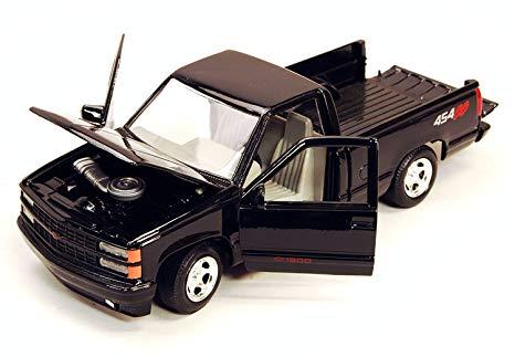 73203bk 1 - 1992 Chevy 454 SS Pickup- Black 1:24