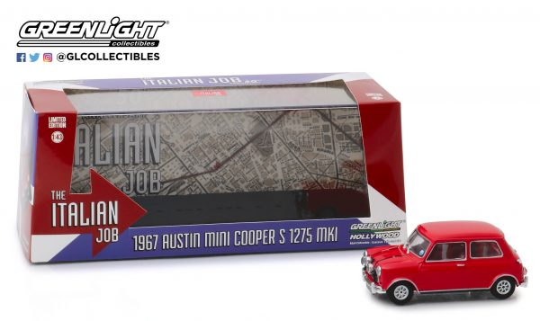 86550a - 1967 Austin Mini Cooper S 1275 Mk. I in Red with Black Leather Straps - The Italian Job (1969)
