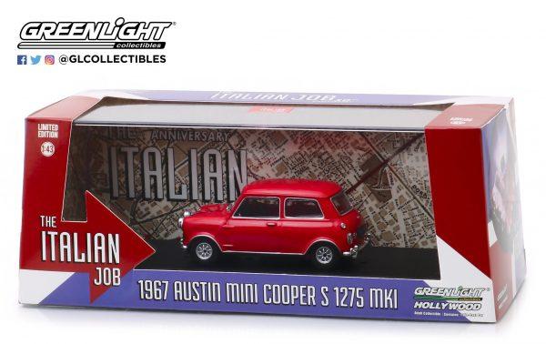 86550b - 1967 Austin Mini Cooper S 1275 Mk. I in Red with Black Leather Straps - The Italian Job (1969)