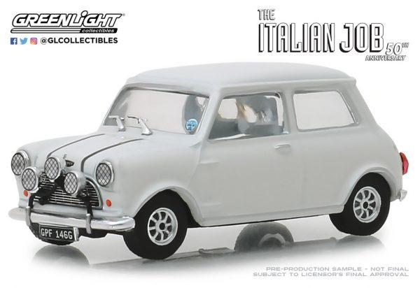 86551 1 - 1967 Austin Mini Cooper S 1275 Mk. I in White with Black Leather Straps - The Italian Job (1969)