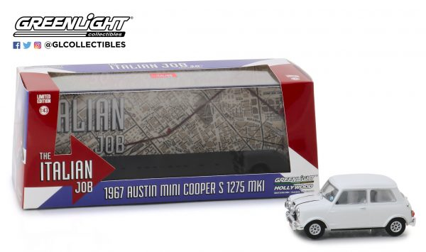 86551a - 1967 Austin Mini Cooper S 1275 Mk. I in White with Black Leather Straps - The Italian Job (1969)