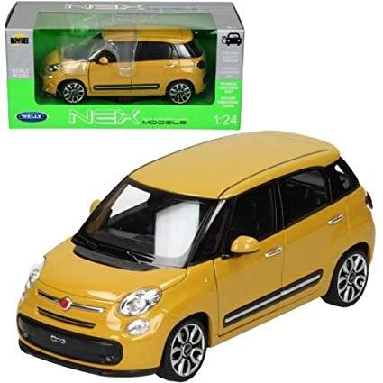 24038w yl - 2013 Fiat 500- Yellow 1:24