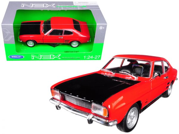 24069r - 1969 Ford Capri - Red - by Welly/Nex in 1:24 scale