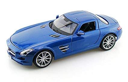 36196bl - 2010 Mercedes SLS AMG- Blue 1:18
