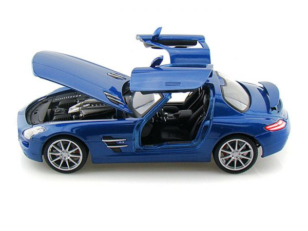 36196bl1 - 2010 Mercedes SLS AMG- Blue 1:18