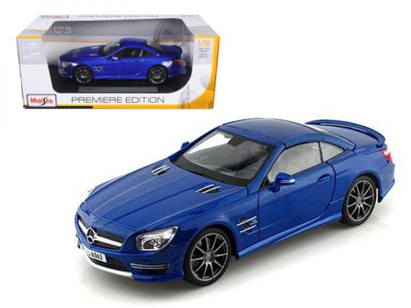 36199bl - 2012 Mercedes-Benz SL AMG-63 Hardtop- Blue 1:18