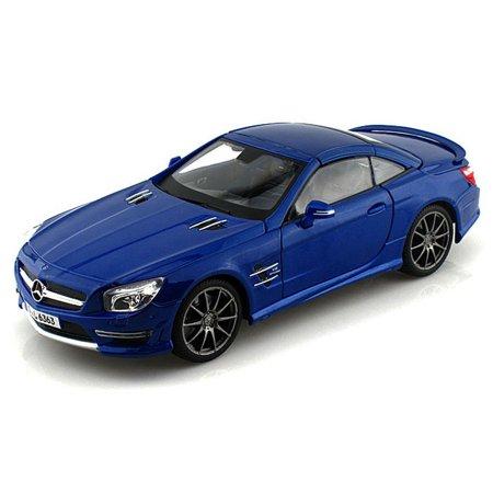 36199bl1 - 2012 Mercedes-Benz SL AMG-63 Hardtop- Blue 1:18