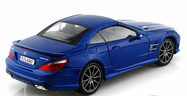 36199bl2 - 2012 Mercedes-Benz SL AMG-63 Hardtop- Blue 1:18