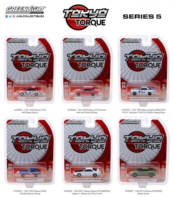 47030 - 1970 Datsun 510 Custom in Red with White Stripes- Tokyo Torque Series 5