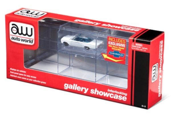 awdc014 - Six-Car Interlocking Acrylic Display Case with Exclusive 1962 Chevy Impala included