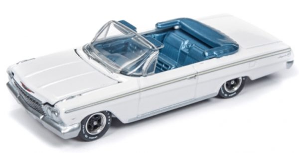 v1 awdc014 - Six-Car Interlocking Acrylic Display Case with Exclusive 1962 Chevy Impala included