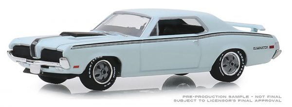 13250 c 1 - 1970 Mercury Cougar Eliminator in Pastel Blue GL Muscle Series 22
