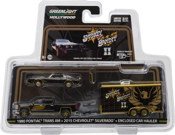 31010b 1 - 2015 Chevy Silverado with 1980 Pontiac Trans Am in Enclosed Car Hauler-Hollywood Hitch & Tow Series 1 - Smokey and The Bandit II (1980)