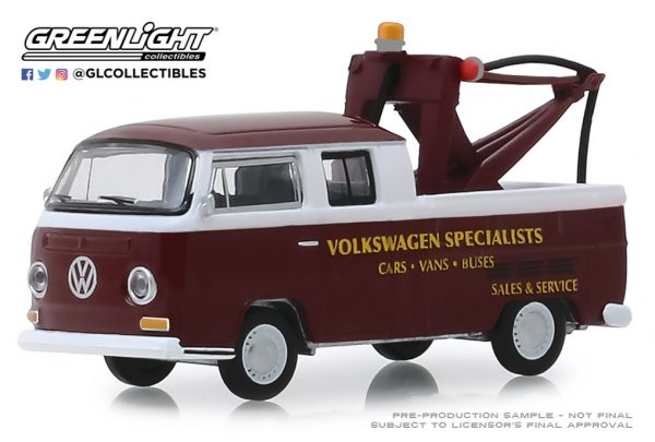"""35140a - Volkswagen Specialists - 1968 Volkwagen Type 2 Crew Cab Pickup """"Doka"""" with Drop-In Tow Hook"""