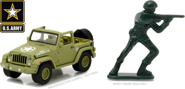 29884 - 2016 Jeep Wrangler - U.S. Army with U.S. Army Soldier Figure (Hobby Exclusive)