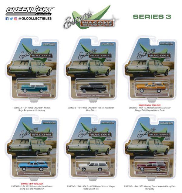 29950 - Estate Wagons Series 3 - 1972 Oldsmobile Vista Cruiser - Viking Blue and Wood Grain