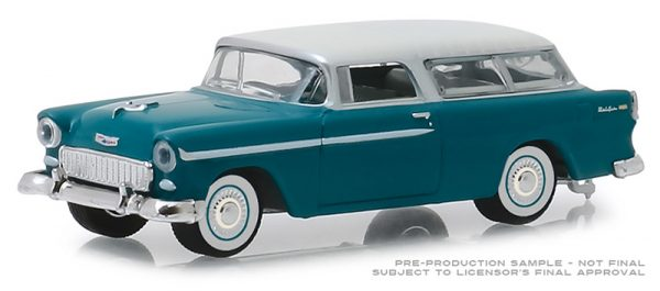 29950a - Estate Wagons Series 3 - 1955 Chevrolet Nomad - Regal Turquoise and India Ivory