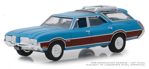 29950d - Estate Wagons Series 3 - 1972 Oldsmobile Vista Cruiser - Viking Blue and Wood Grain