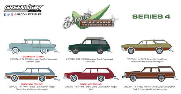 29970 - 1976 Pontiac Grand LeMans Safari Wagon in Red -Estate Wagons Series 4