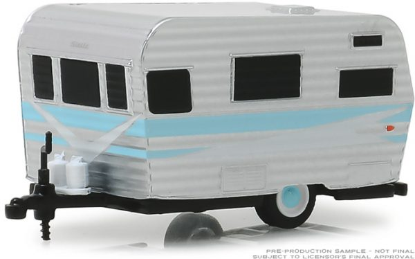 34060b - Hitched Homes Series 6 - 1959 Siesta Travel Trailer - White and Blue
