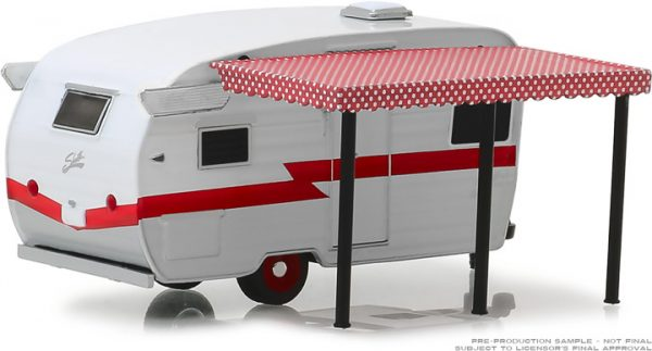 34060f - Hitched Homes Series 6 - Shasta Airflyte - White and Red with Awning