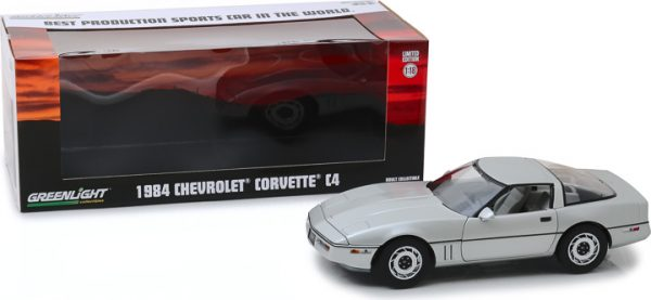 """13534 1 - 1984 Chevrolet Corvette C4 - Silver Metallic - Vintage Ad Cars """"Best Production Sports Car in the World"""""""