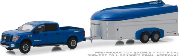 32170d - Hitch & Tow Series 17 - 2018 Nissan Titan XD Pro-4X and Aerovault MKII Trailer