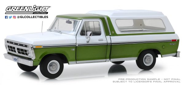 13545 - 1975 Ford F-100 Pick Up Truck - w/ Wimbledon White Combination Tu-Tone and Deluxe Box Cover