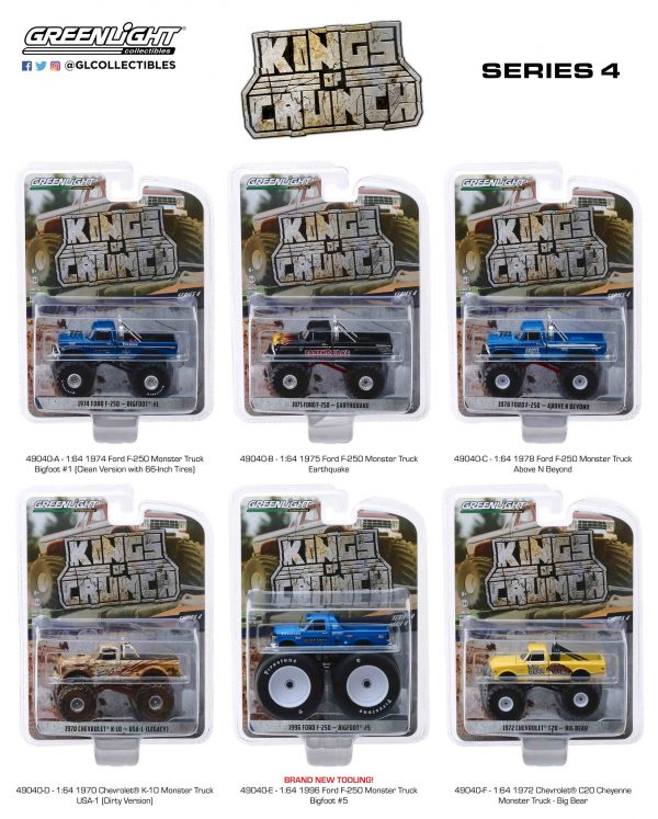 49040 - 1996 FORD F-250 - BIGFOOT #5 MONSTER TRUCK - KINGS OF CRUNCH