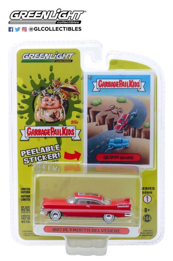 54010a - 1957 Plymouth Belvedere - Quinn Quake - Garbage Pail Kids - Series 1