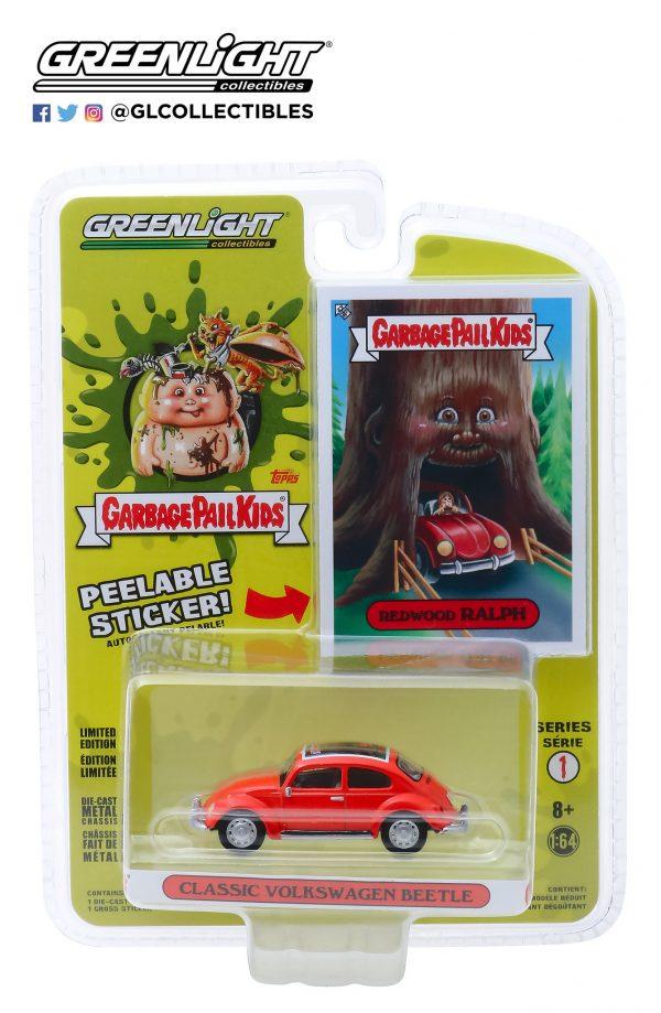 54010d - Classic Volkswagen Beetle- Redwood Ralph - Garbage Pail Kids - Series 1