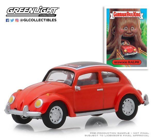 54010d1 - Classic Volkswagen Beetle- Redwood Ralph - Garbage Pail Kids - Series 1