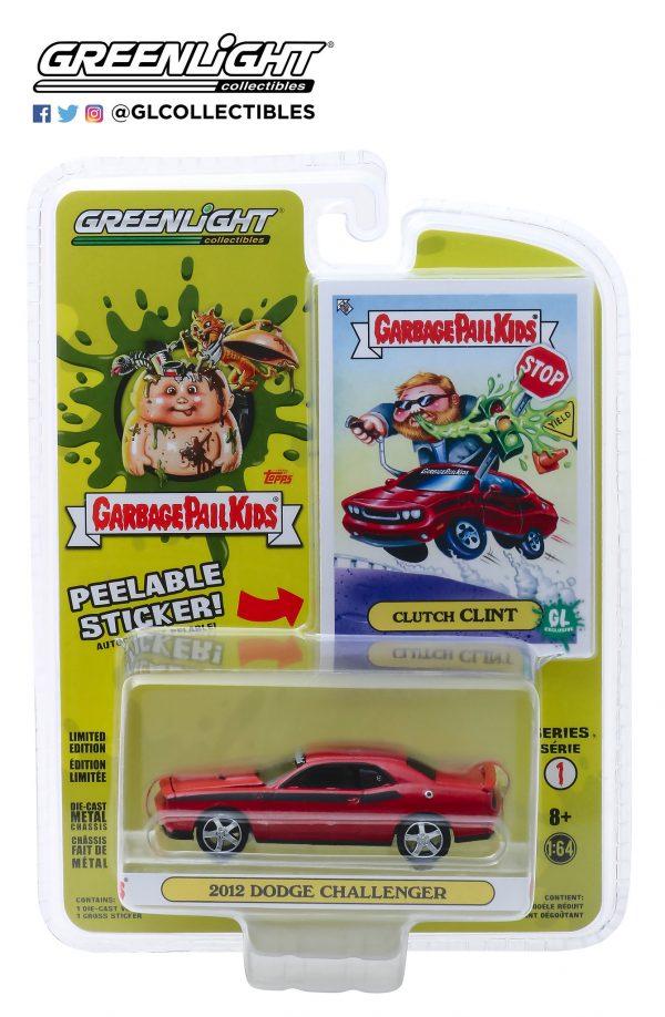 54010f - 2012 Dodge Challenger - Clutch Clint - Garbage Pail Kids - Series 1
