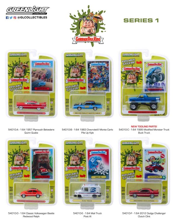 54010set - 2012 Dodge Challenger - Clutch Clint - Garbage Pail Kids - Series 1