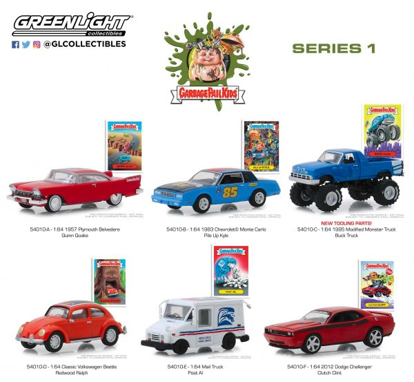 54010set2 - 2012 Dodge Challenger - Clutch Clint - Garbage Pail Kids - Series 1