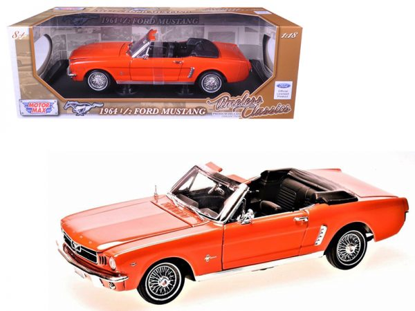 73145or - 1964 1/2 Ford Mustang Convertible - Orange