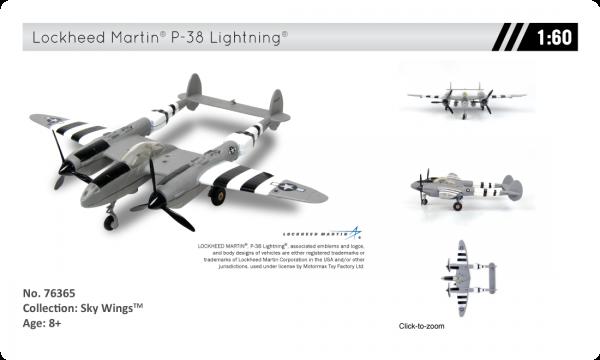 76365 46025.1545243966.1280.1280 - Lockheed Martin P-38 Lightning Airplane - 1:60 scale