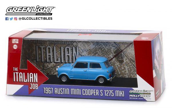 86549b - 1967 Austin Mini Cooper S 1275 Mk. I in Blue with Black Leather Straps - The Italian Job (1969)